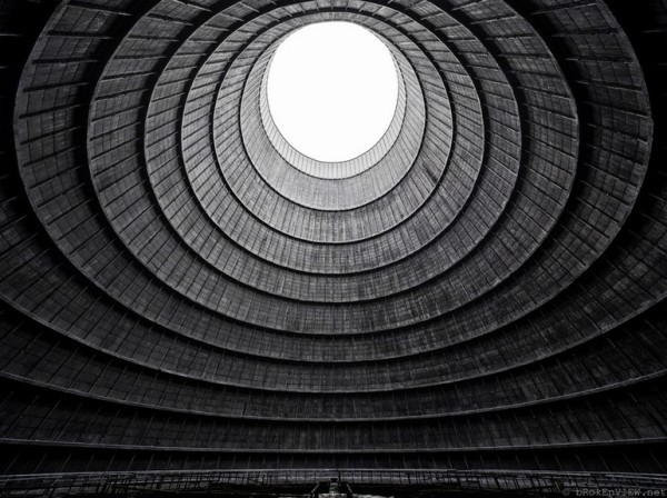 Cooling tower of an abandoned power plant