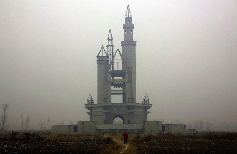 The abandoned Wonderland Amusement Park outside Beijing, China