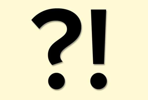 Interrobang - The combination of a question and exclamation mark.