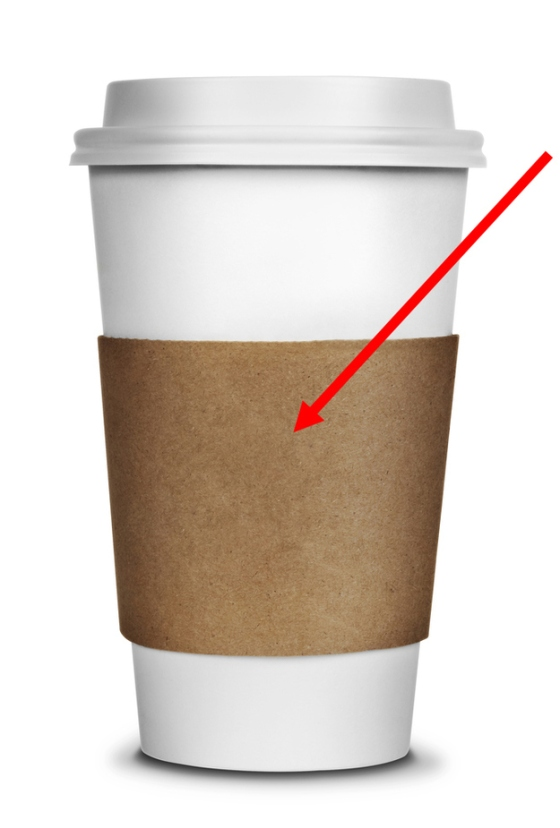 Zarf - The cardboard holders for your coffee cup so you don't burn your hands.