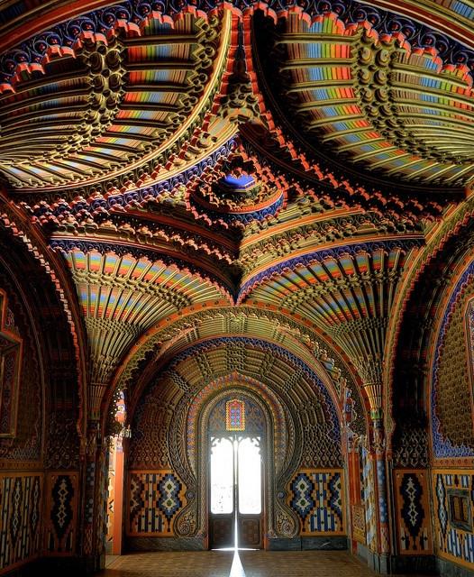The peacock room in Castello du Sammezzano regello, Tuscany