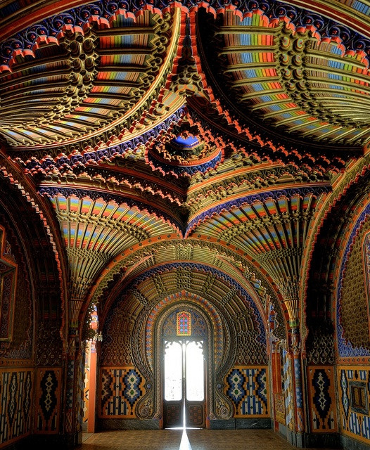 The peacock room in Castello du Sammezzano regello, Tuscany
