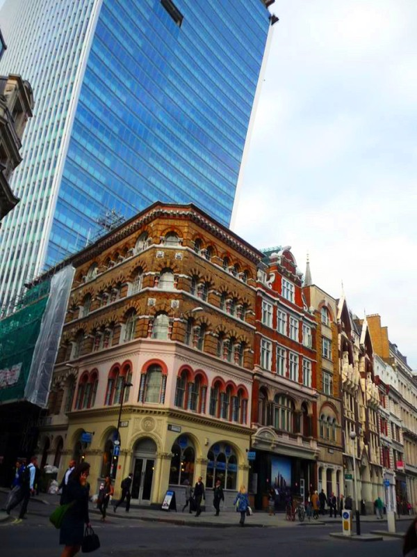 A nice corner in London, England, where new and old buildings meet!