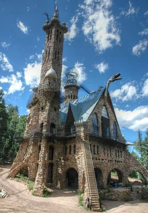 Bishop Castle in the San Isabel National Forest located North West of Rye, Colorado