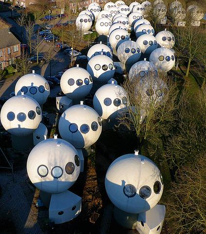 Bolwoningen, Hertogenbosch, Netherlands (These are real houses)