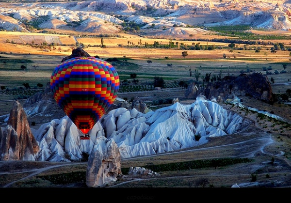 Cappadocia in Central Anatolia, largely in Nevşehir Province, in Turkey