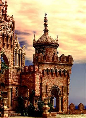Castillo de Colomares in Benalmadena, Malaga, Spain