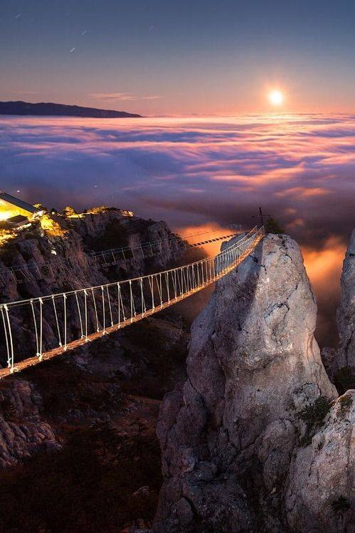 Mount Ai-Petry at night, Crimea, Ukraine