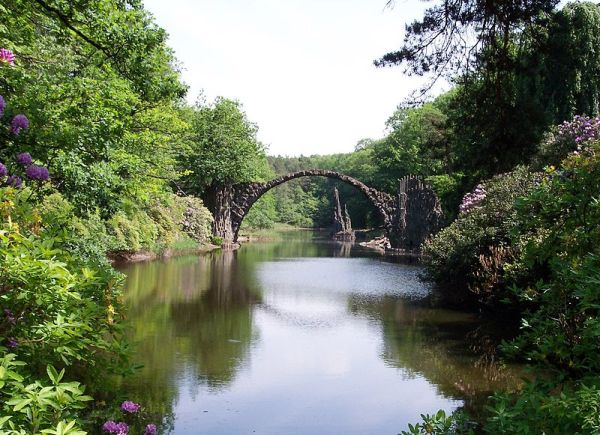 Devil's bridge, Kromlauer Park, Kromlau, Germany