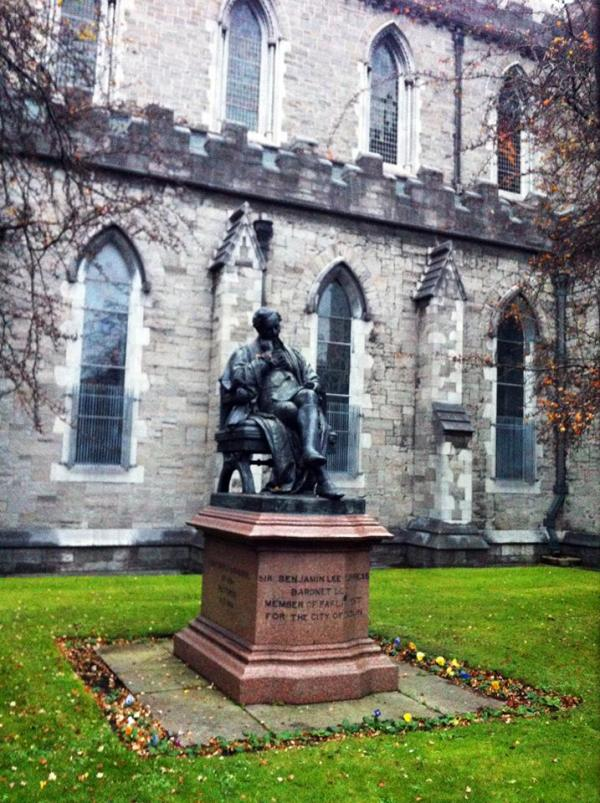 In front of the St. Patricks Cathedral, Dublin, Ireland