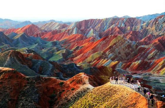 The Zhangye Danxia Landform Geological Park in Gansu Province, China